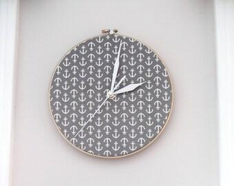 Decorative Anchor Clock, Wall Hanging Clock, Anchor Wall Clock, Hanging Wall Clock, Wall Clock Decoration