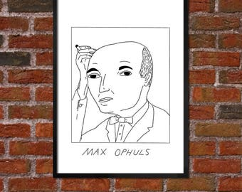 Badly Drawn Max Ophuls - Film / Movie / Cinema Poster