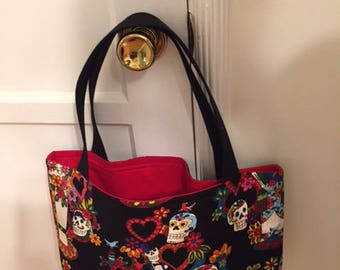 The World's Best Horror Tote Bag / Purse- Day of the Dead Wedding