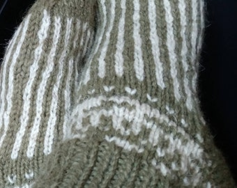 Very Warm Hand Made Wool Slippers/ Socks; Home Shoes; Warming Shoes; House Warming; Sheep Wool Socks