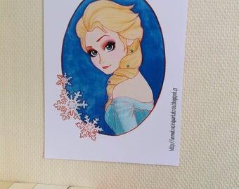 Elsa - Frozen / Reine des Neiges - Print / Impression - 21 x 29,7 cm - A4