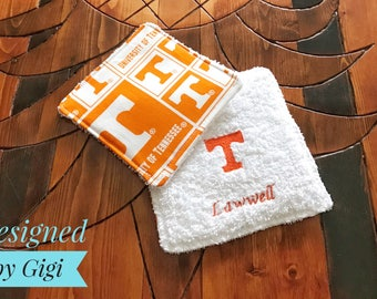 Tennessee Volunteers Personalized Fabric Coasters Set of 4