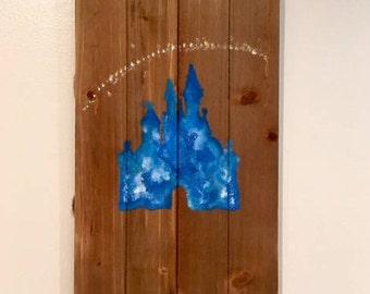 Cinderella Castle Wood Art