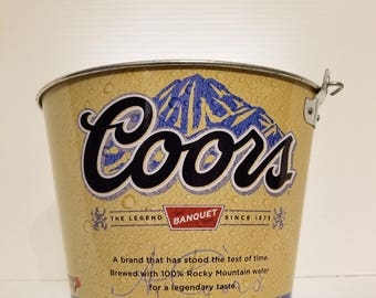 Collectible Coors Banquet Ice Bucket. Beer, Cooler, Party