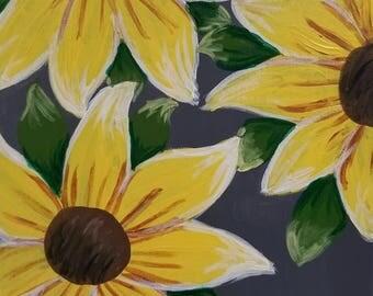 Handmade Sunflower Painting