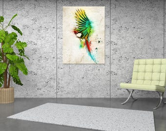 Painting abstract Parrot wall painting, digital art
