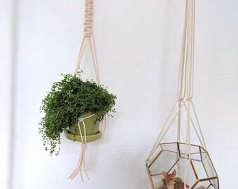 Handmade Macrame Plant Hanger (for smaller pots)