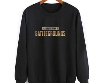 PUBG PLAYERUNKNOWN'S BATTLEGROUNDS Battle Royale Gaming winner kids and adults chicken dinner console xbox popular game Black Sweatshirt