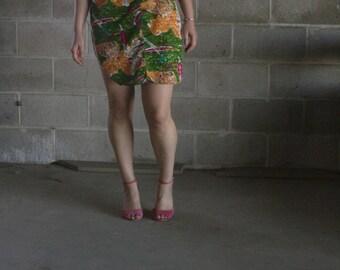 vintage oriental shirt dress / oversized shirt dress / oversized shirt / us m / s / m / l
