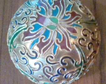 Vintage Champleve Cloisonne Paper Weight