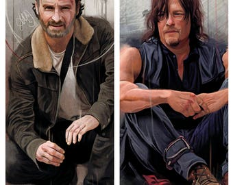 The Walking Dead: Rick and Daryl Bookmark