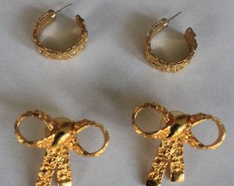 Premier Designs Gold Earrings Vintage