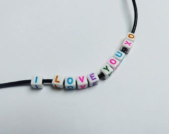 alphabet beads 10 * letters to choose * 6mm * white or pink