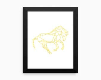 Nature Print, Horse Print (white background), Motivational Wall Art, Digital Art Print, Home Decor, Wall Art, 8x10, 18x24