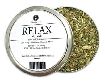 RELAX Herbal Blend - Chakra Tea - Herb Blend, Herbal Magic, Diy Herbal Blend, Chakra Blend, Herbal Tea Blend, Herbal Soak, Herbal Bath Salts
