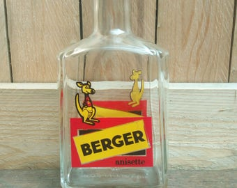 Vintage French Berger Anisette jug / vintage / retro / french Bistro / advertising