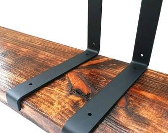 FREE SHIPPING - Heavy Duty Shelf Bracket, Iron Shelf Brackets, Metal Shelf Bracket, Industrial Shelf Bracket, Modern Shelf Bracket, Shelving