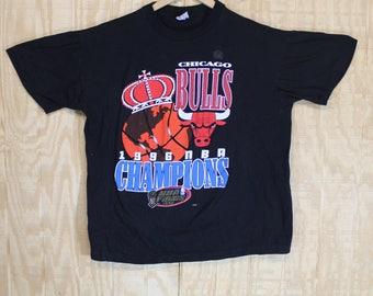 Vintage 1990's Chicago Bulls 1996 Championship Cotton True Fan T Shirt T-shirt Tee XL