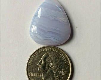26.95x22.25mm,Pear-Tear Shape Blue Lace Agate Cabochon/Attractive Blue Lace Agate/wire wrap stone//Pendant Cabochon/SemiPrecious Gemstone