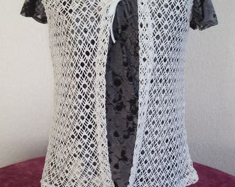 Beautiful way knit/crochet vest