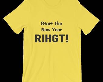 Men's Funny Tshirt, A Tee Shirt For The New Year. Gift For Men, Boyfriend, Husband, Him. Joke Gift of Funny T Shirt, Unisex