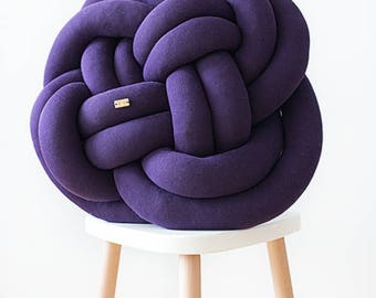 ROSA Knot cushion - plum