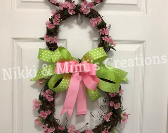 Easter Bunny Spring Grapevine Wreath