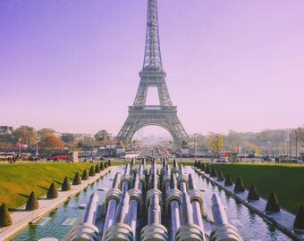 Eiffel Tower Cannons, Paris, France, Poster, Wall Art, Photography