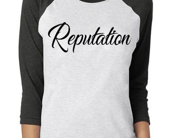 Taylor Swift Reputation Tour Baseball Tee Shirt 2018 Bad Reputation T-Shirt - Concert T-Shirt - Premium Quality Baseball Tee - Next Level