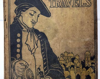 1899 Gulliver's Travels by Jonathan Swift hardcover Altemus Edition illustrated