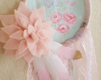 Dream Catcher Shabby Chic Floral Dreamcatcher