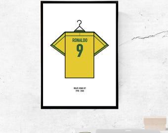 Ronaldo, Brazil 98' Kit - A3/A4 Print