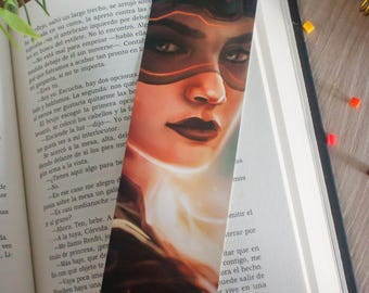 Bookmark fantasy gift, illustration bookmark, gift for readers, reading books gift, custom gift girl, fantasy illustration, custom bookmark