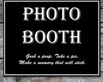 Photo Booth Wedding Sign, Printable Wedding Sign, Instant Download