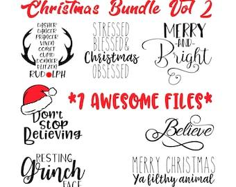 Christmas Bundle, Christmas,santa, grinch SVG, PNG, dxf, jpg, Silhouette Files, Cricut Files, svg files, dxf files, png files, jpg files