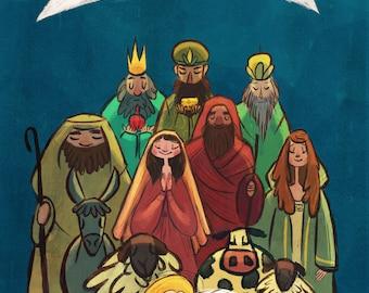 Digital print- Nativity Illustration