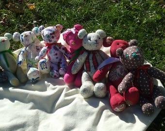 Handmade Stuffed Bear / gifts / stocking stuffers