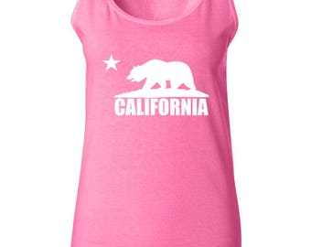 California Bear Cali Love Women Tank Top Sleeveless Tops Best Seller Designed Women Tanks