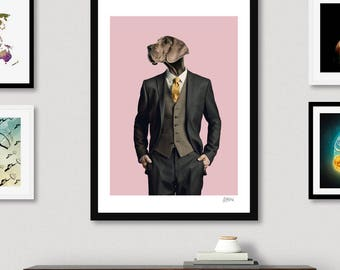 Wall Art Prints, Home Decor, Printable Art, Portraits,  Gift For Women, Art Print, Home Art, Wall Art, - Dog