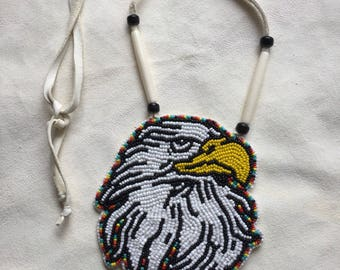 Handemade Beaded Medallion Necklace