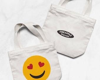 Lovestruck Emoji Small Tote Bag