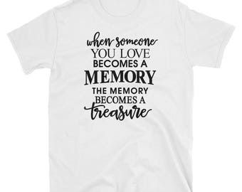 Short-Sleeve Mens T-Shirt Someone You miss as a Memory