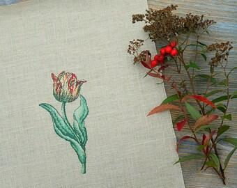 Tulip Cross Stitch - Flower Gift - Gift For Her - Birthday Gift - Unique Gift - Birthday Cross Stitch - Modern Cross Stitch