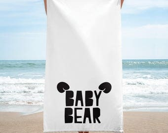 new born gift, baby present, new baby gift, baby bear towel, baby shower gifts, baby present, baby bear, bear gift, baby bear homewares