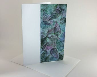 Ash leaf tapestry blank card, individually handmade: A7, notecards, fine cards, SKU BLA71013