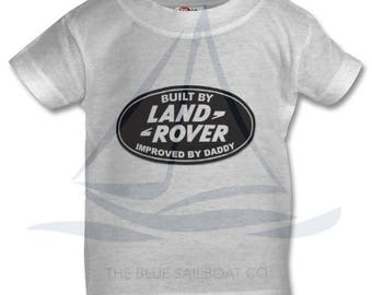 Improved by Daddy Baby T Shirt, Land Rover, Defender, Truck, T-Shirt, Cars, Novelty Gift, Defender T-Shirt, Land Rover T-Shirt Baby, Kids