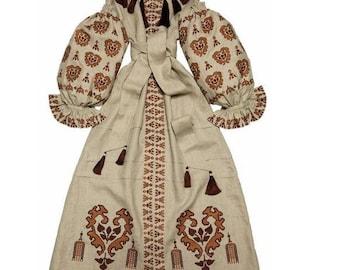 Kaftan Dubai Abaya Dress Vyshyvanka Ukrainian Dresses Bohemian Clothes Boho Clothing Mexican Embroidery Embroidered Cloth Ethnic Vishivanka