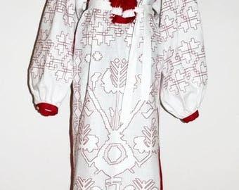 Vyshyvanka Dress Embroidered Maxi Linen Dress Ethnic style Long Dress Traditional Kaftan Mexican Maxi Tunic Vishivanka Bohemian Clothes
