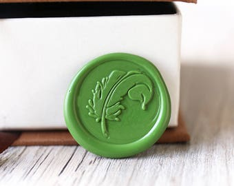 Feather wax seal stamp kit, plant seal, Christmas gift,party wax seal stamp set, wedding wax stamp