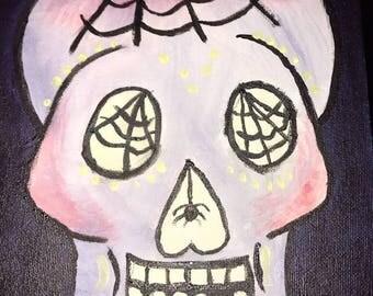 Sugar Skull with Spider